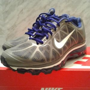 Nike Air Max + essential Grey/blue Running Shoes 8